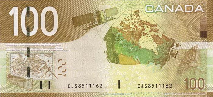 100 Canadian Dollars