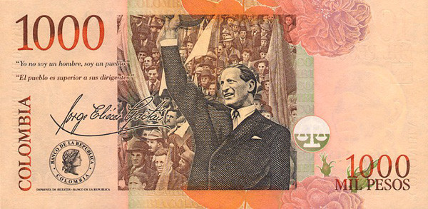 1000 Colombian Pesos