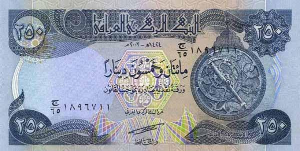 250 Iraqi Dinars